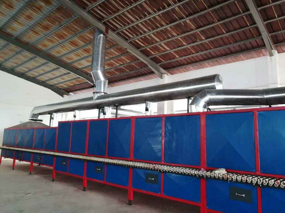 我公司在广晟有色德庆兴邦新建50米天然气稀土辊道窑顺利点火