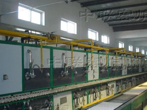 山西高陶瓷业70米素烧辊道窑
